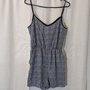 3 For $15 DIVIDED by H&M Navy Daisy Romper Sz 10
